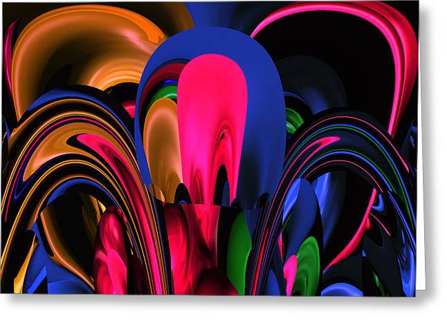 Abstract Style Greeting Cards - Colores . 2 Greeting Card by Sir Josef  Putsche Social Critic