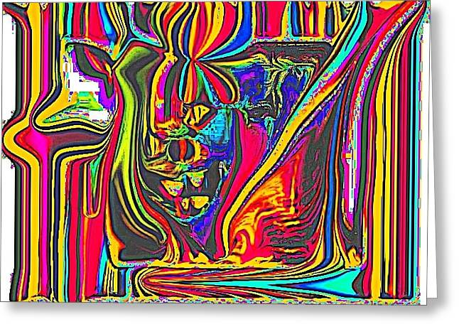 """indoor"" Still Life Digital Art Greeting Cards - colorful 3D Greeting Card by HollyWood Creation By linda zanini"