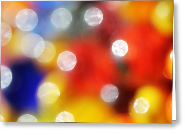 Colorful Abstract 8 Greeting Card by Mary Bedy