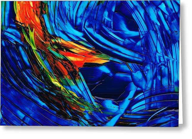 Large Prints Paintings Greeting Cards - Colorful Abstract Art - Energy Flow 1 - By Sharon Cummings Greeting Card by Sharon Cummings