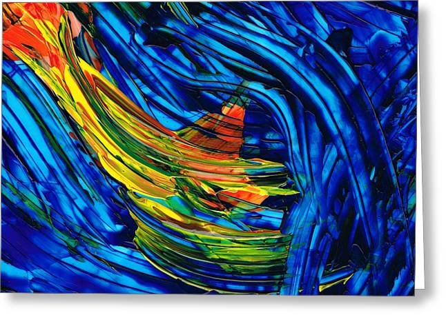 Abstract Movement Greeting Cards - Colorful Abstract Art - Energy Flow 5 - By Sharon Cummings Greeting Card by Sharon Cummings
