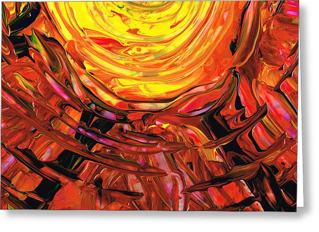 Large Prints Paintings Greeting Cards - Colorful Abstract Art - Halfway Around The Sun - Sharon Cummings Greeting Card by Sharon Cummings