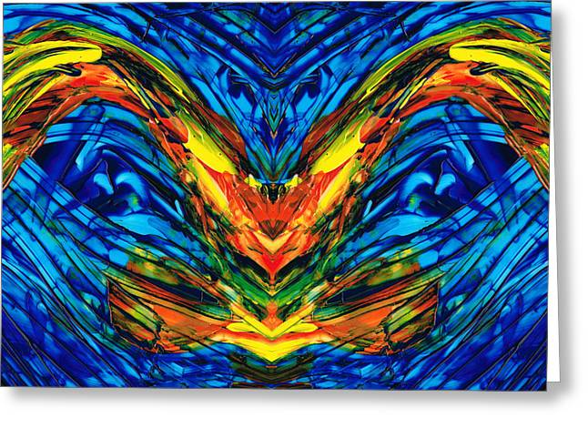 Large Prints Paintings Greeting Cards - Colorful Abstract Art - Splendor - By Sharon Cummings Greeting Card by Sharon Cummings