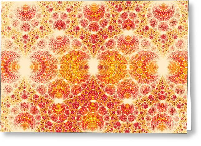 Summary Greeting Cards - Colorful abstract fractal  Greeting Card by Odon Czintos