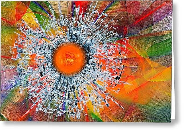 Brocken Greeting Cards - Colorful Abstract  Greeting Card by Gabriella Weninger - David