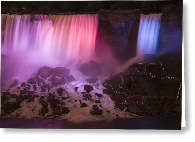 Fall Photos Greeting Cards - Colorful American Falls Greeting Card by Adam Romanowicz