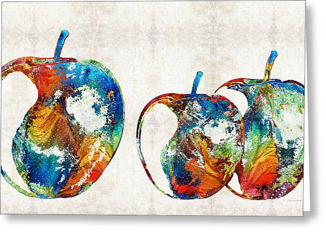 Yellow Apples Greeting Cards - Colorful Apples by Sharon Cummings Greeting Card by Sharon Cummings