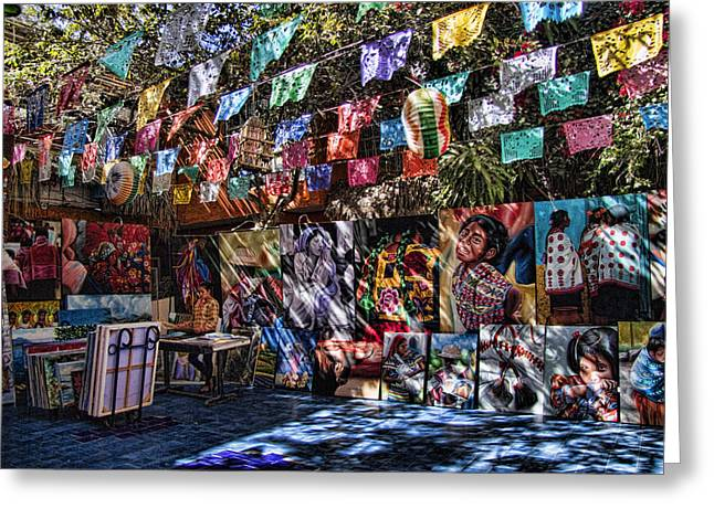 Baja California Greeting Cards - Colorful Art Store in Mexico Greeting Card by David Smith