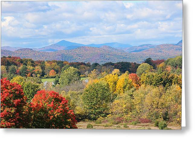 Charlotte Vermont Greeting Cards - Colorful Autumn Views Greeting Card by William Alexander
