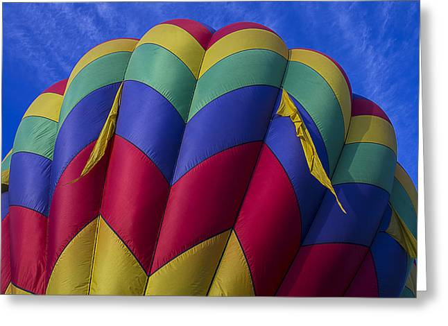 Ballooning Greeting Cards - Colorful Balloon Close Up Greeting Card by Garry Gay