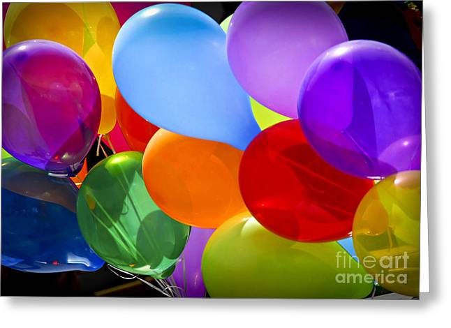 Celebrate Photographs Greeting Cards - Colorful balloons Greeting Card by Elena Elisseeva