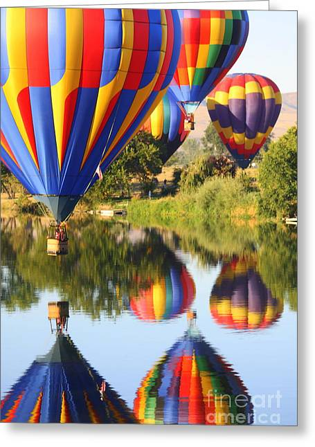 Rally Greeting Cards - Colorful Balloons Fill the Frame Greeting Card by Carol Groenen