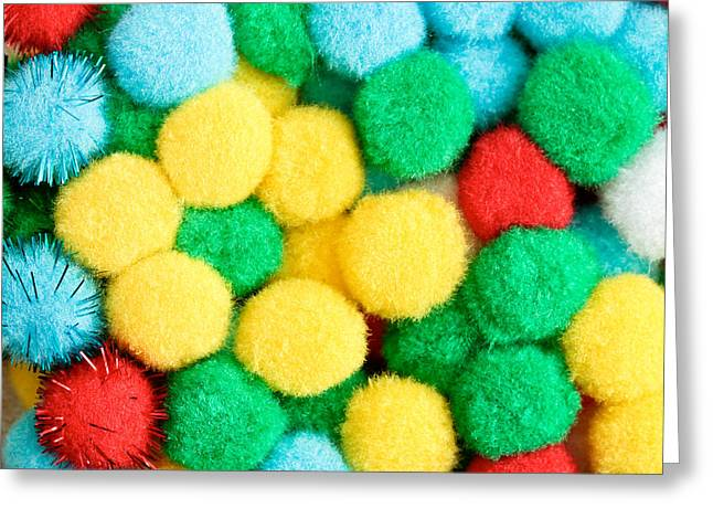 Synthetic Greeting Cards - Colorful bonbons Greeting Card by Tom Gowanlock