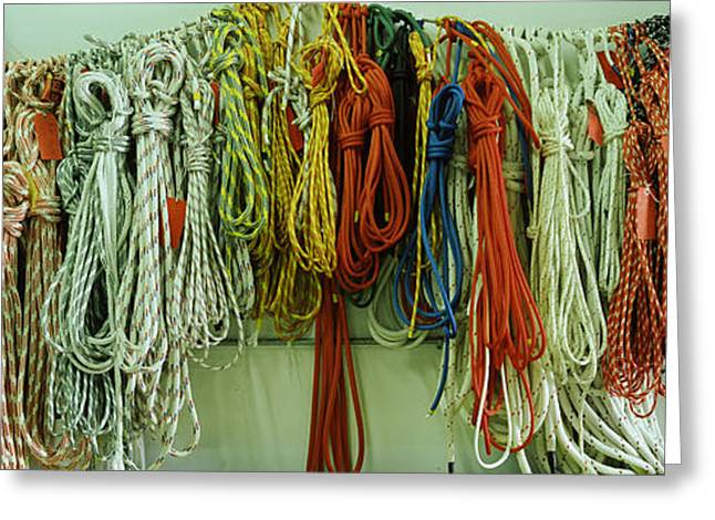 Conformity Greeting Cards - Colorful Braided Ropes For Sailing Greeting Card by Panoramic Images