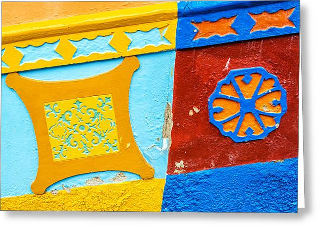 Colorful Building Detail Greeting Card by Jess Kraft