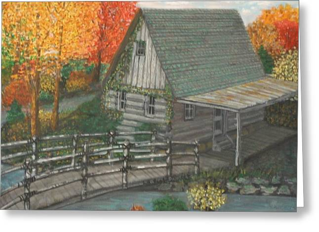 Most Favorite Greeting Cards - Colorful cabin. Greeting Card by Larry Lamb