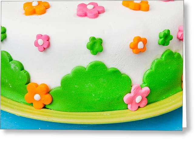 Birthday Cake Greeting Cards - Colorful cake Greeting Card by Tom Gowanlock
