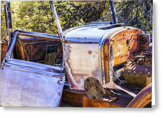 Rusted Cars Greeting Cards - Colorful Car Greeting Card by Joseph S Giacalone