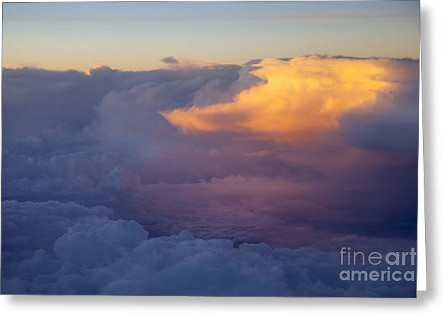 Colorful Cloud Formations Greeting Cards - Colorful Cloud Greeting Card by Brian Jannsen