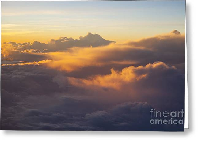 Colorful Cloud Formations Greeting Cards - Colorful Clouds Greeting Card by Brian Jannsen