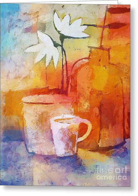 Colorful Coffee Greeting Card by Lutz Baar