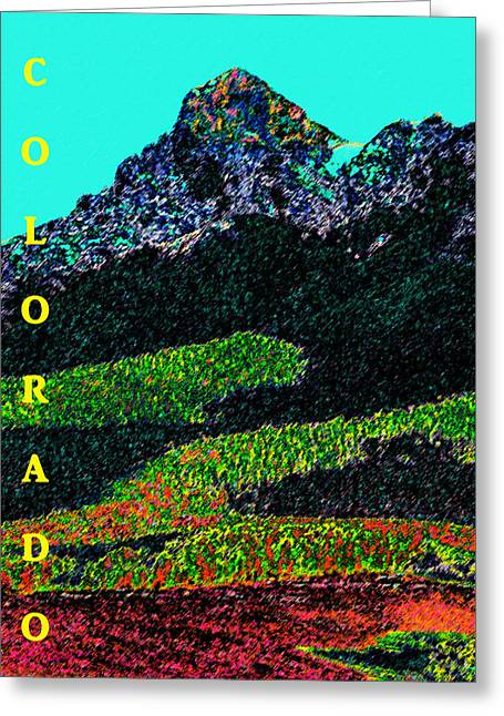 Colorado Posters Greeting Cards - Colorful Colorado Greeting Card by David Lee Thompson