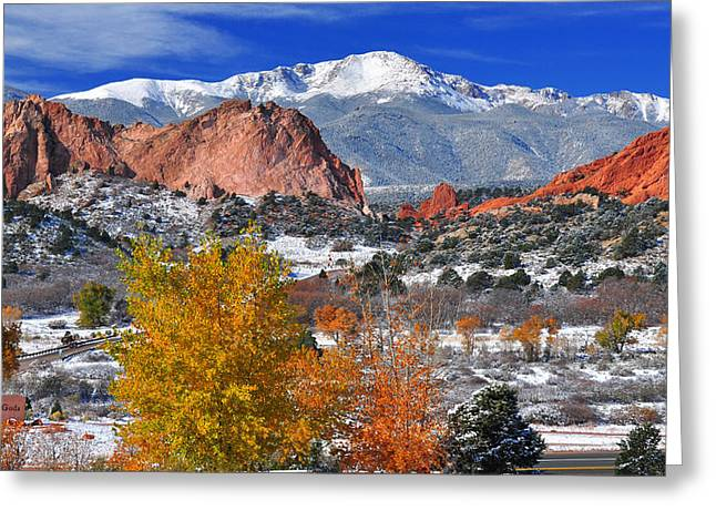 Garden Of The Gods Greeting Cards - Colorful Colorado Greeting Card by John Hoffman