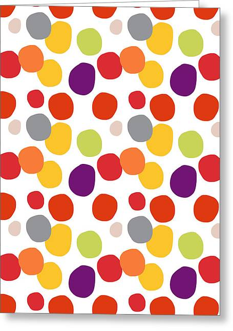 Circles Greeting Cards - Colorful Confetti  Greeting Card by Linda Woods
