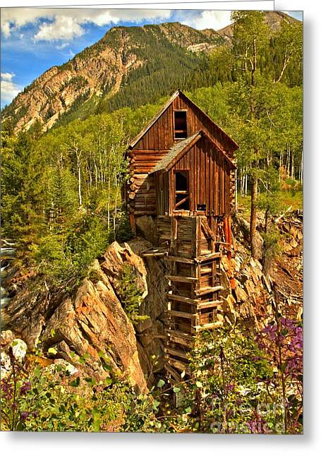 Water Powered Generator Greeting Cards - Colorful Crystal Mill Greeting Card by Adam Jewell