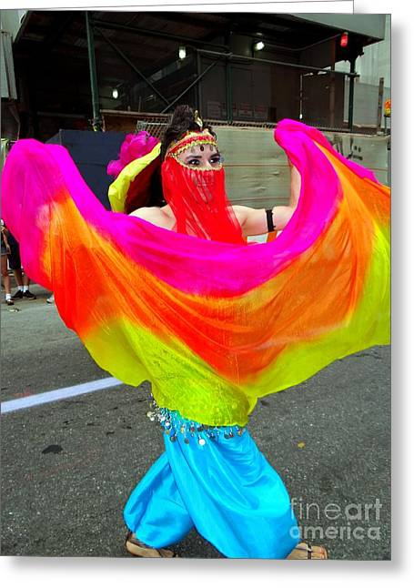 Colorful Dance Greeting Card by Ed Weidman