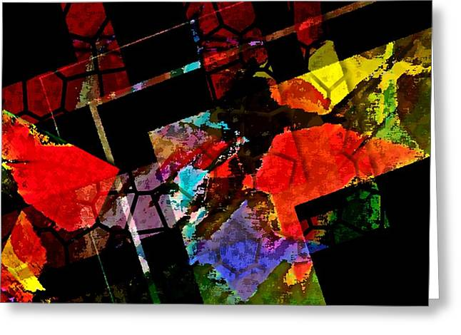 Colorful Design In Digital Art Greeting Card by Mario Perez