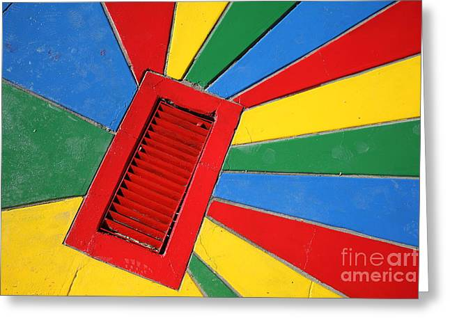 Colorful Drain Greeting Card by James Brunker
