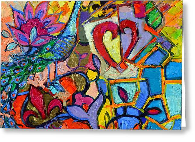 Amours Greeting Cards - Colorful Dream Greeting Card by Mona Edulesco