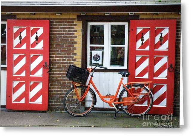 Lainie Wrightson Greeting Cards - Colorful Dutch Scene Greeting Card by Lainie Wrightson