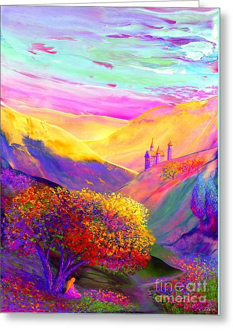 Sunset Abstract Greeting Cards - Colorful Enchantment Greeting Card by Jane Small