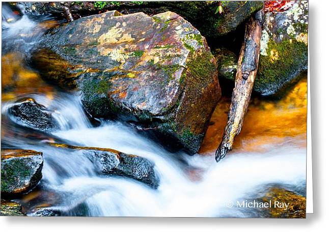 Water Flowing Greeting Cards - Colorful Energy Greeting Card by Optical Playground By MP Ray