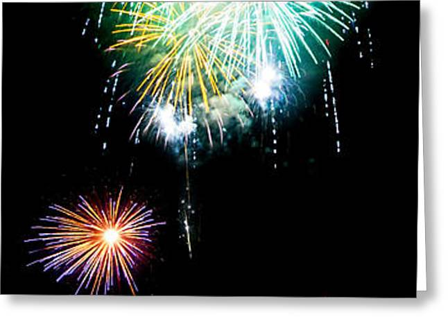 Colorful Explosions No3 Greeting Card by Weston Westmoreland