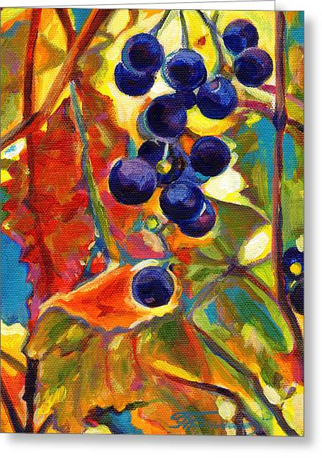 Grape Vineyard Greeting Cards - Colorful Expressions I Greeting Card by Tanya Filichkin