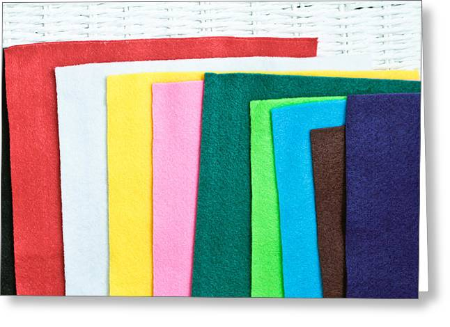 Diverse Photographs Greeting Cards - Colorful felt Greeting Card by Tom Gowanlock