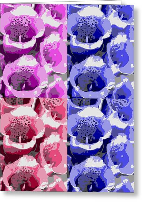 Selection Mixed Media Greeting Cards - Colorful flowers  bells Greeting Card by Toppart Sweden