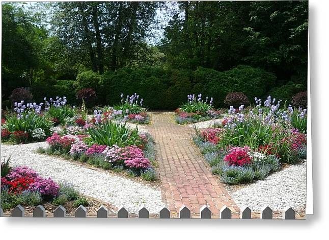 Shesh Tantry Greeting Cards - Colorful Garden Greeting Card by Shesh Tantry