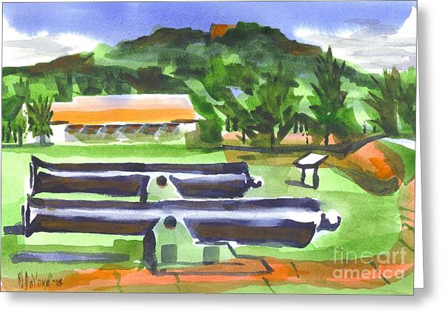 Knob Greeting Cards - Colorful Green Fort Davidson Greeting Card by Kip DeVore
