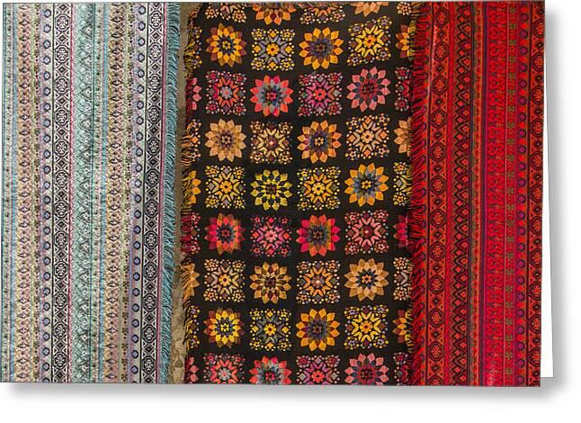Artisan Made Greeting Cards - Colorful Handmade Fabrics Greeting Card by Ben and Raisa Gertsberg