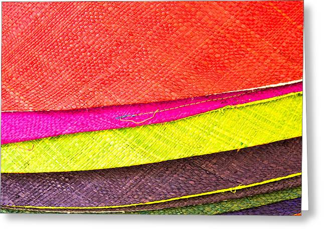 Synthetic Greeting Cards - Colorful hats Greeting Card by Tom Gowanlock