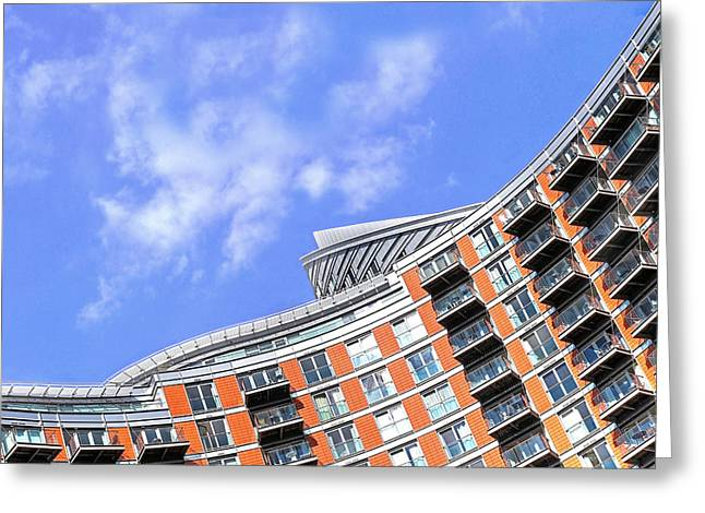 New Britain Greeting Cards - Colorful High Rise Living Greeting Card by Gill Billington