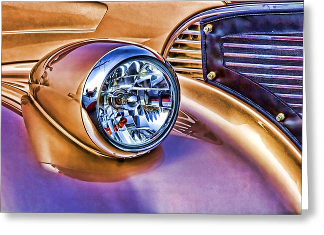 Hot Color Greeting Cards - Colorful Hotrod Greeting Card by Carol Leigh