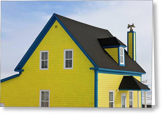 Colorful House, Iles De La Madeleine Greeting Card by Keren Su