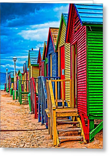 Cliff C Morris Jr Greeting Cards - Colorful houses at St James Greeting Card by Cliff C Morris Jr