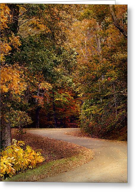 Autumn Scenes Greeting Cards - Colorful Journey - Autumn Scene Greeting Card by Jai Johnson