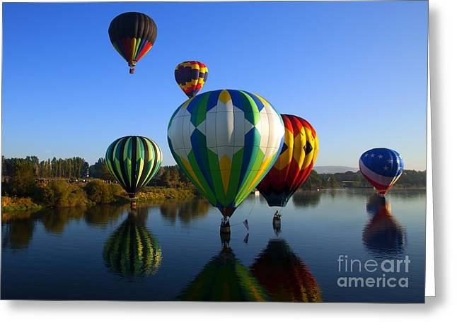 Colorful Landings Greeting Card by Mike  Dawson